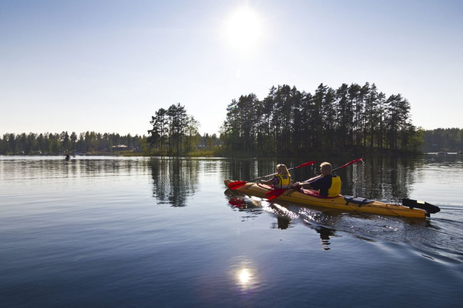 Rent a kayak and explore lake Saimaa