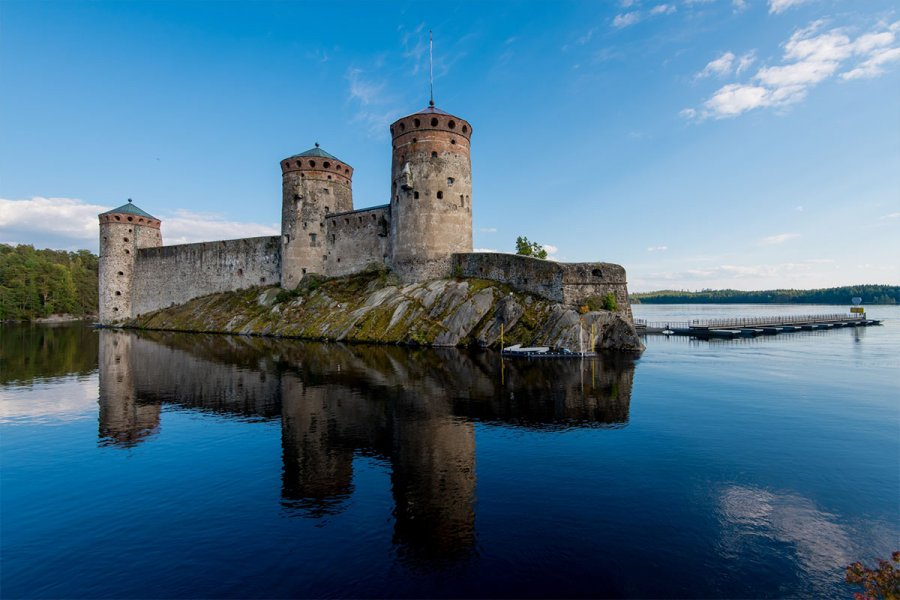 The medieval castle of Olavinlinna is 25km away